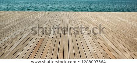 Legno deck perdere up spiaggia cielo Foto d'archivio © csakisti