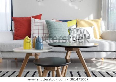 диван · цвета · интерьер · комнату · лампы - Сток-фото © Ciklamen