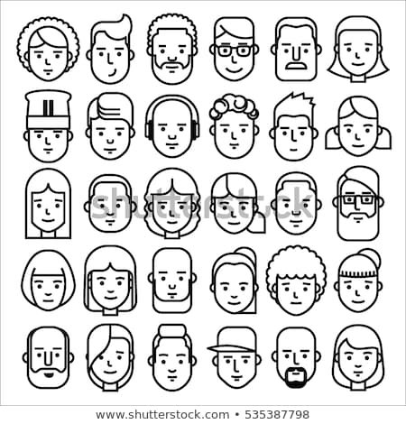 avatar heads, vector faces icon set Stock photo © beaubelle