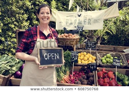fresh fruit at the greengrocer Stock photo © leeavison