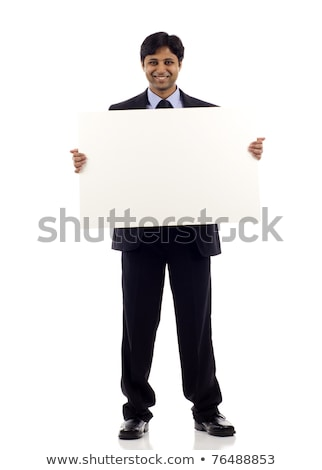 Business Man with Blank Sign - Full Body Stock photo © lisafx