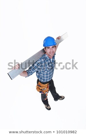 high angle shot of carpenter all smiles stock photo © photography33