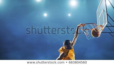 Сток-фото: Basketball Slam Dunk