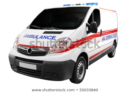 Stock photo: Ambulance van isolated on white