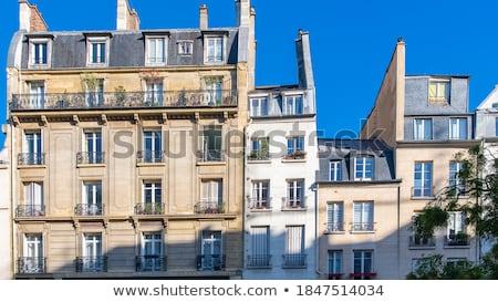 Lakások Párizs légifelvétel lakás épületek Eiffel-torony Stock fotó © fazon1