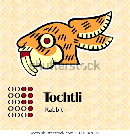 Aztec symbol Tochtli Stock photo © sahua