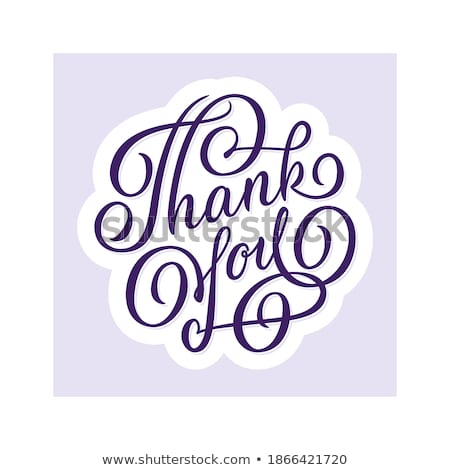 black and violet calligraphic labels stock photo © liliwhite