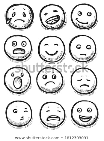 hand drawn emoticons Stock photo © milsiart
