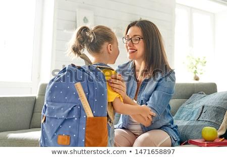 Schoolgirl and satchel Stock photo © pzaxe