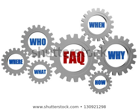 question-mark and words in gearwheels Stock photo © marinini