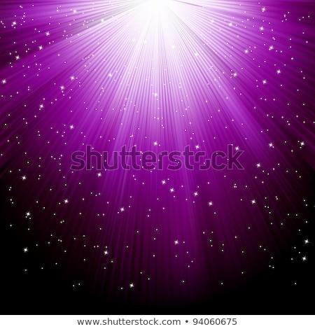 Stars falling purple luminous rays. EPS 8 Stock photo © beholdereye