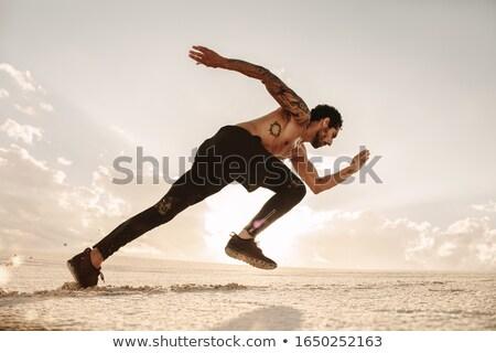 Homem em pé areia praia outono pessoa Foto stock © photography33