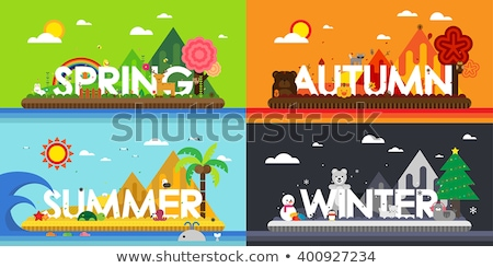 owls in four seasons  Stock photo © creative_stock