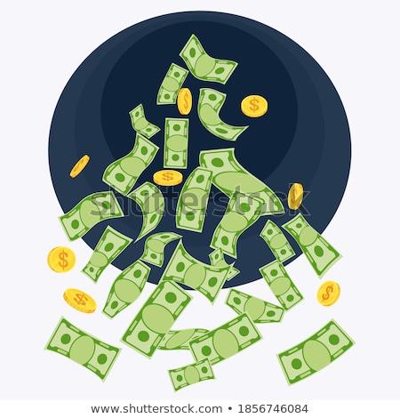 dollar bank notes falling in black hole stock photo © pterwort