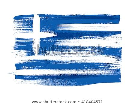 греческий флаг рисунок иллюстрация изолированный рисованной Сток-фото © marinini