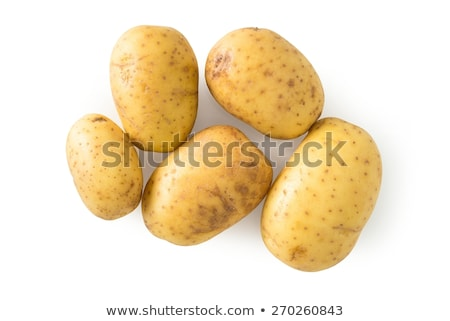 três · batatas · isolado · branco · comida · natureza - foto stock © deymos