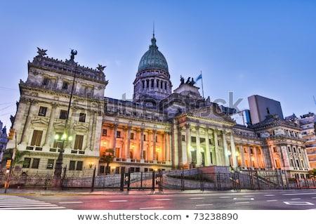 Foto stock: Congresso · Argentina · edifício · Buenos · Aires · cidade · rua