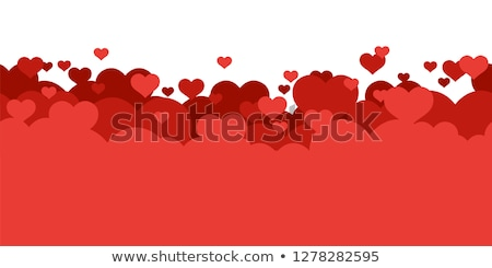 Colorful cartoon romantic love background stock photo © juliakuz