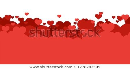 красочный Cartoon романтические любви цветок дерево Сток-фото © juliakuz