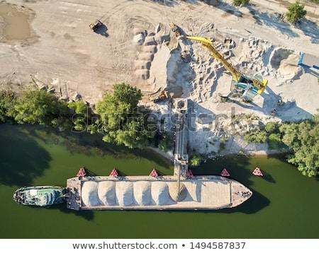 Blé grain bateau industrielle stock Photo stock © guffoto