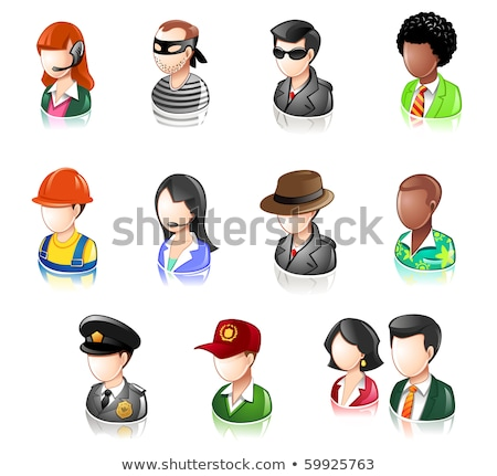 Various People Profession Glossy IconSet Stock photo © AleksM