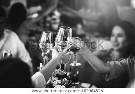 Banket partij mensen vrouw man mode Stockfoto © artisticco