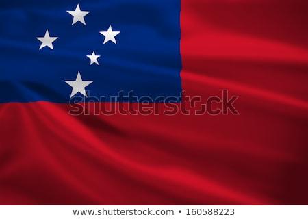 Samoa · bayrak · beyaz · soyut · boya · arka · plan - stok fotoğraf © maxmitzu
