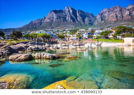 Кейптаун · пляж · побережье · ЮАР · автомобилей · облака - Сток-фото © intsys