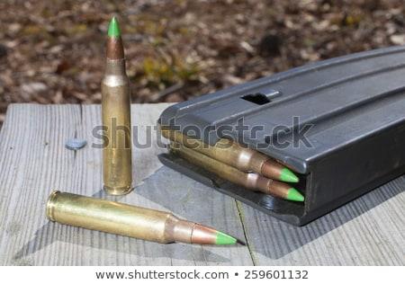 Kettő lövedékek izolált támadás puska példa Stock fotó © eldadcarin