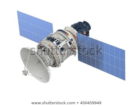 Satelitarnej biały przestrzeni planety latać sygnał Zdjęcia stock © 4designersart