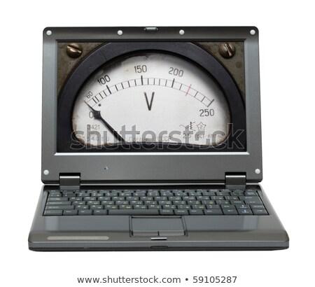 velho · voltímetro · instrumento · tensão · trabalhar - foto stock © mikko