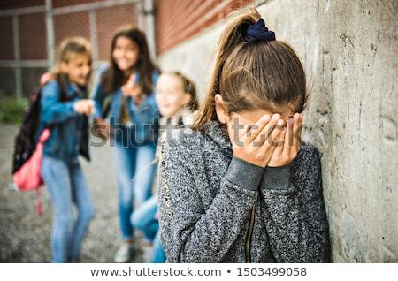 Megfélemlítés gyerekek iskola árnyékok kettő gyerekek Stock fotó © Lightsource