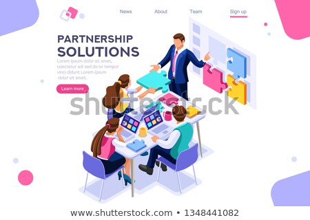 Stock photo: Partnership Solutions