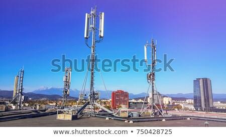 relay mast over city of zakopane stock photo © marekusz