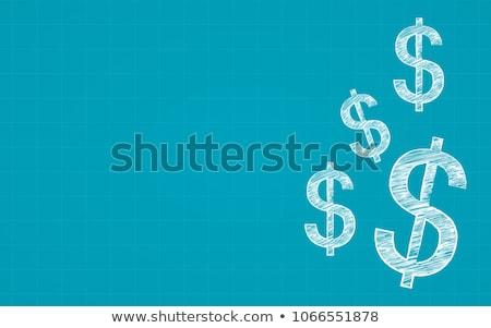 Dollarzeichen Tafel geschrieben weiß Kreide Schule Stock foto © vankad
