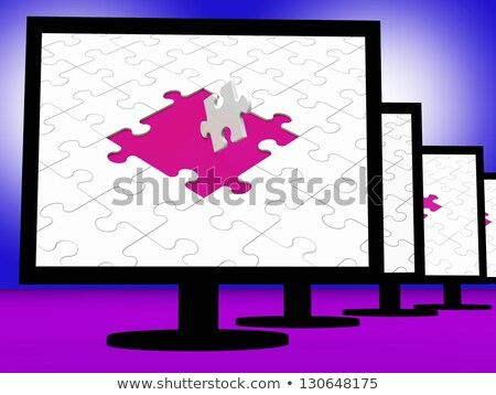 Last Pieces On Monitors Showing Problems Solving Stock photo © stuartmiles