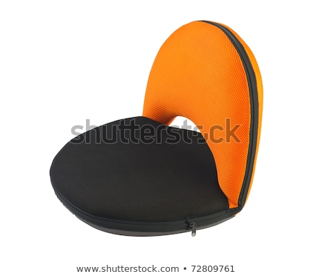 Beautiful portable or movable seat in orange color Stock photo © JohnKasawa