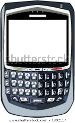 Vector mobiele telefoon pda BlackBerry muziek laptop Stockfoto © alexmillos