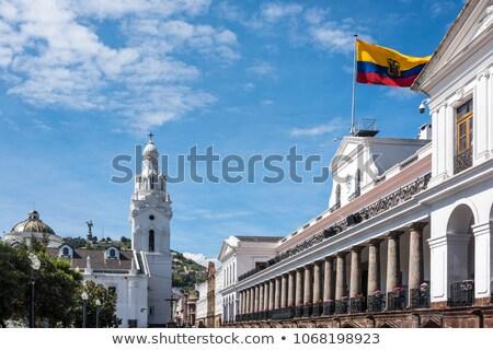 Turista óváros Ecuador fő- épület óra Stock fotó © pxhidalgo