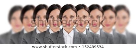 Csoport üzlet nők áll csetepaté lány Stock fotó © HASLOO