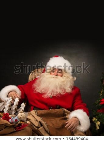 Stockfoto: Kerstman · reusachtig · zak · vol · christmas · presenteert