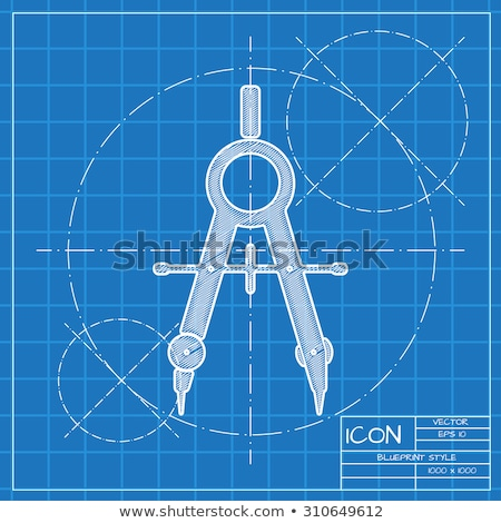 blueprint & compass Stock photo © Vladimir