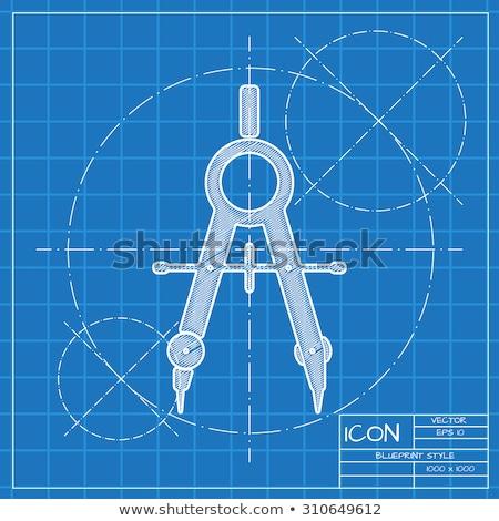blueprint compass stock photo © vladimir