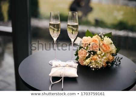 anillos · de · boda · par · madera · diseno · fondo - foto stock © alekleks