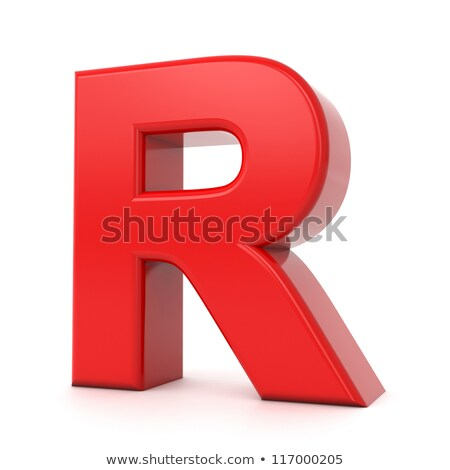 Red 3D Letter R. Stock photo © tashatuvango