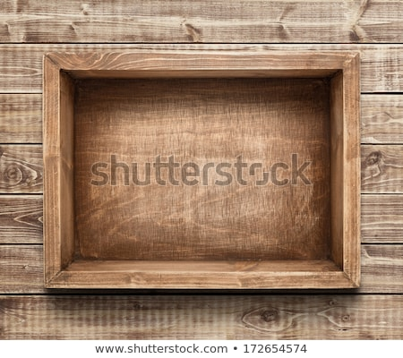Open Wooden crate box on the floor Stock photo © stevanovicigor