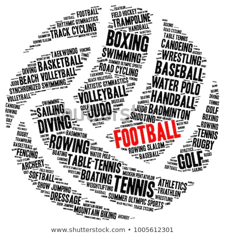 waterpolo word cloud with white wordings Stock photo © seiksoon