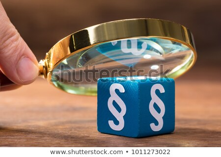 paragraph sign in blue glass blocks stock photo © marinini