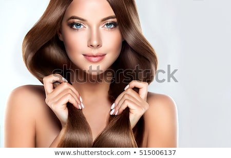 bela · mulher · longo · elegante · cabelos · lisos · belo · jovem - foto stock © tommyandone