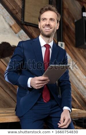 businessman looking to the side stock photo © stryjek